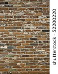 Painted brick wall textured background - stock photo