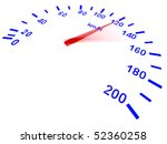 speedometer isolated on white - stock photo