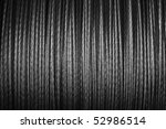 coiled steel wire - stock photo