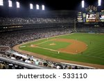 Comerica Park in Detroit at night - stock photo