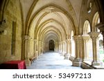 Cloister - stock photo