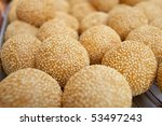 glutinous rice sesame balls - stock photo
