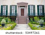 Andrew Low House, Savannah, Georgia, USA - stock photo