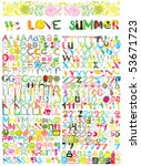 Giant Summer Alphabet Collection (Original Vector Set) - stock vector