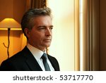 Portrait of Middle aged business Man - stock photo