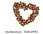 heart of hazelnut - stock photo