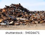 Scrap Metal Pile - stock photo