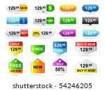 Colored price tags. - stock vector
