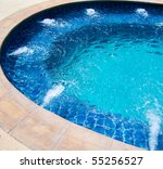 Blue bath - stock photo