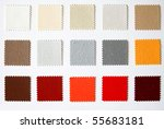 textile colour palette square cutout - stock photo