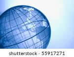 Blue globe showing North and South America. - stock photo