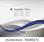 blue tech abstract background composition - vector illustration - stock vector