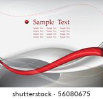 red tech abstract background composition - vector illustration - stock vector