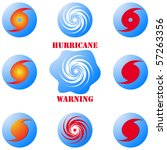 Modern hurricane icon, sign set isolated on white vector - stock vector