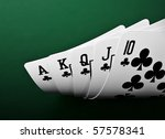 full house of poker - stock photo