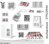 vector barcodes - stock vector