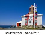 Cape Bonavista Lighthouse in Newfoundland, Canada. - stock photo