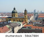 Munich City Skyline - stock photo