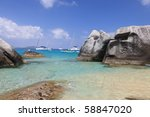 Famous The Baths on Virgin Gorda, British Virgin Islands - stock photo