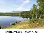 Tarn in a mountain area - stock photo