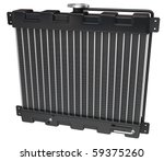 Car Radiator on a white background with clipping path - stock photo