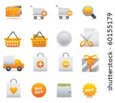 Shopping Icons, Yellow13 Professional icons for your website, application, or presentation - stock vector