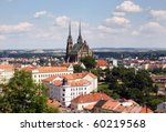 Brno cathedral of saint Peter and Paul in Brno, Czech republic - stock photo