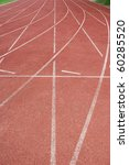 Area football field track. - stock photo