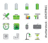 Computer Icons | Green01   Professional set for your website, application, or presentation - stock vector