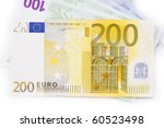 Arrangement of Euro banknotes - stock photo