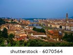 Florence (Italian: Firenze) is the capital city of the region of Tuscany, Italy. - stock photo