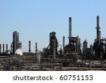 American Oil Refinery - stock photo