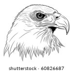 Abstract Eagle in the form of a tattoo - stock vector