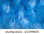 Background of detail of blue oil painting. - stock photo