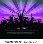 set of group peoples dance vector. flyer - stock vector