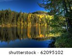 HDR Image of lake - stock photo