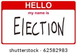 red sticker hello my name is election concept - stock photo