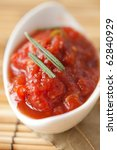 Tomato sauce with rosemary - stock photo