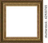 photo of old frame for a picture, isolated - stock photo