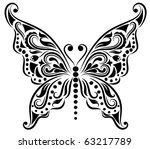 Pattern in a shape of a butterly. - stock vector