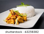 Lemongrass chicken dish - stock photo