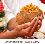 India traditional marriage - stock photo