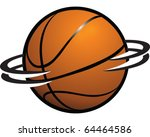Spinning Basketball - stock vector