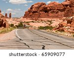 Arches National Park Bike Ride - stock photo