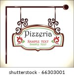 pizzeria sign - stock vector