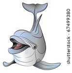 Vector dolphin - stock vector