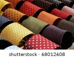 display with dotted ties - stock photo