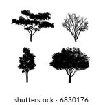 Tree Silhouettes 2 - stock vector