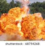 Explosion a flame - stock photo