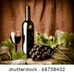 Red wine still life - stock photo